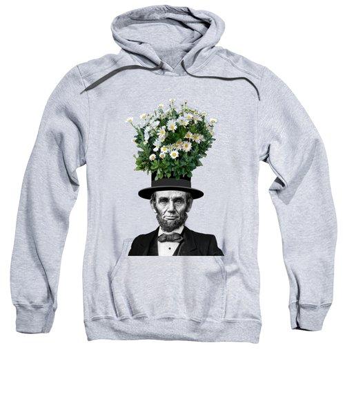 Abraham Lincoln Presidential Daisies Sweatshirt by Garaga Designs