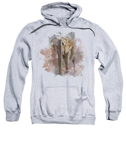 African Elephant - Transparent Sweatshirt by Nikolyn McDonald