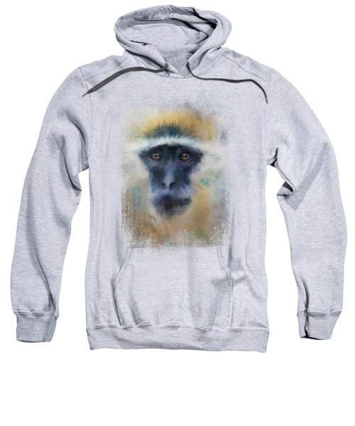 African Grivet Monkey Sweatshirt by Jai Johnson