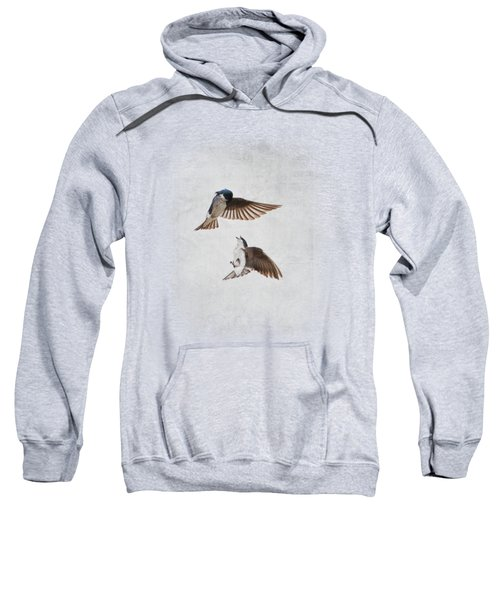 Airobatics - Tree Swallows Sweatshirt by Jai Johnson