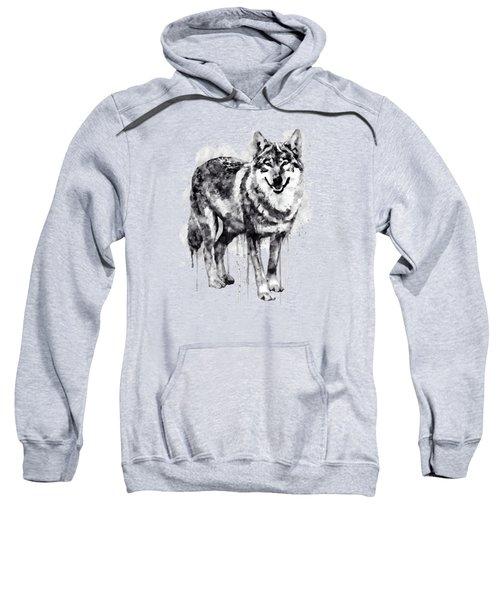 Alpha Wolf Black And White Sweatshirt by Marian Voicu