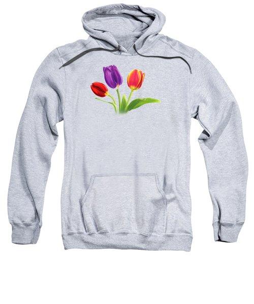Tulip Trio Sweatshirt by Sarah Batalka