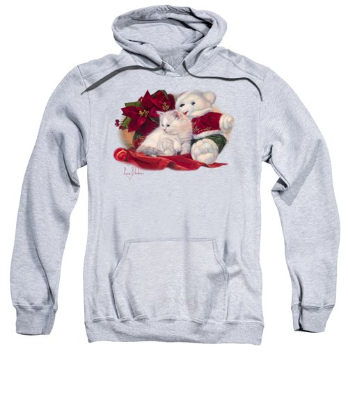 Christmas Kitten Sweatshirt by Lucie Bilodeau