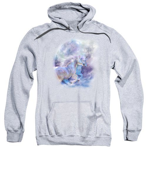 Unicorn Soulmates Sweatshirt by Carol Cavalaris
