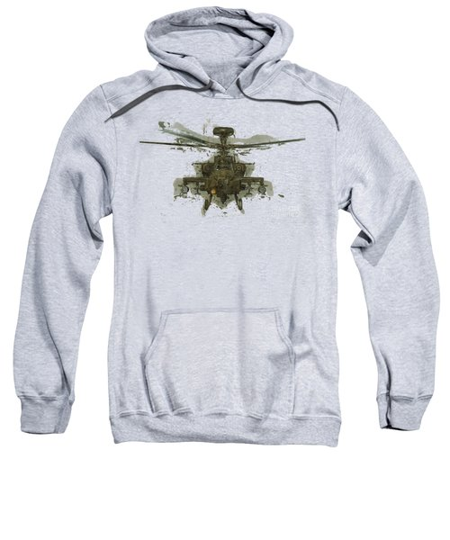 Apache Helicopter Abstract Sweatshirt by Roy Pedersen