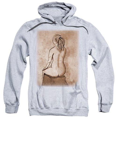 Life Drawing 1 Sweatshirt by Linda Lees