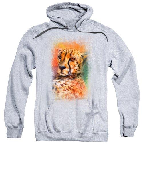 Colorful Expressions Cheetah Sweatshirt by Jai Johnson