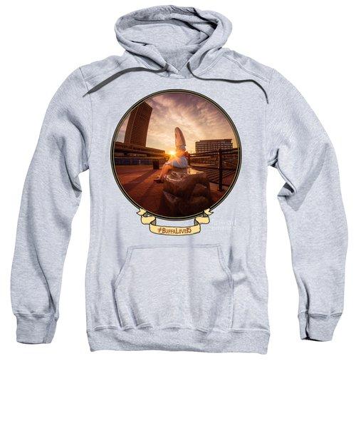 Shark Girl Dawn - Horizontal Sweatshirt by Chris Bordeleau
