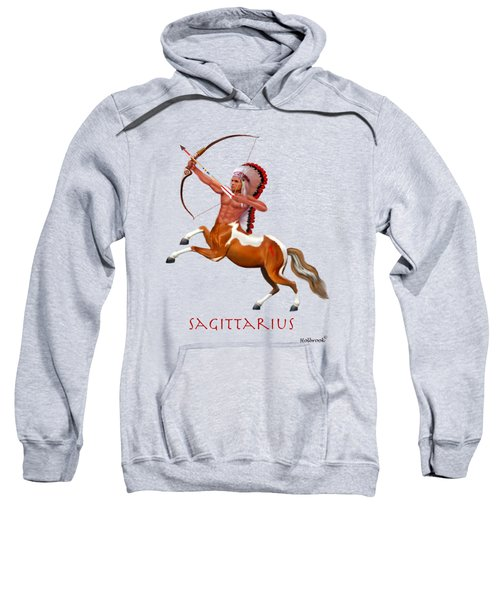 Native American Sagittarius Sweatshirt by Glenn Holbrook