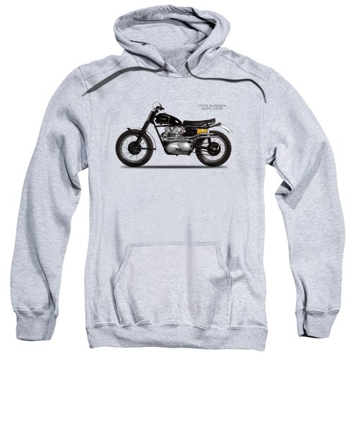 The Steve Mcqueen Desert Racer Sweatshirt by Mark Rogan