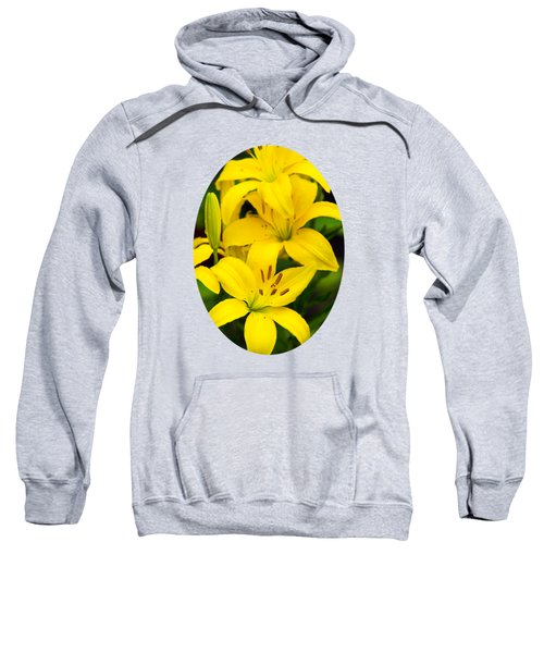 Yellow Lilies Sweatshirt by Christina Rollo
