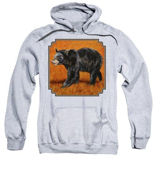 Autumn Black Bear Sweatshirt by Crista Forest