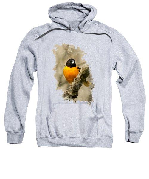 Baltimore Oriole Watercolor Art Sweatshirt by Christina Rollo