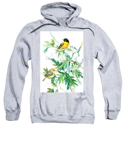 Baltimore Orioles And Oak Tree Sweatshirt by Suren Nersisyan