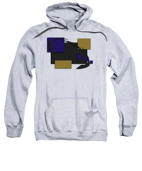 Baltimore Ravens Abstract Shirt Sweatshirt by Joe Hamilton
