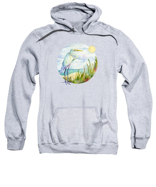 Beach Heron Sweatshirt by Amy Kirkpatrick