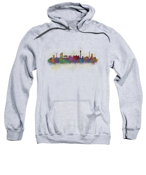 Berlin City Skyline Hq 5 Sweatshirt by HQ Photo