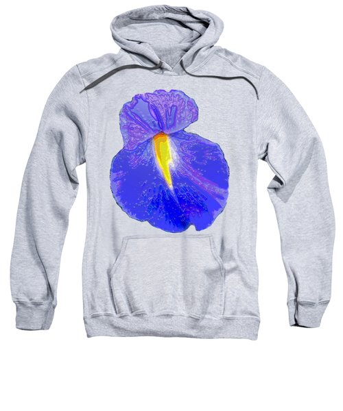 Big Mouth Iris Sweatshirt by Marian Bell