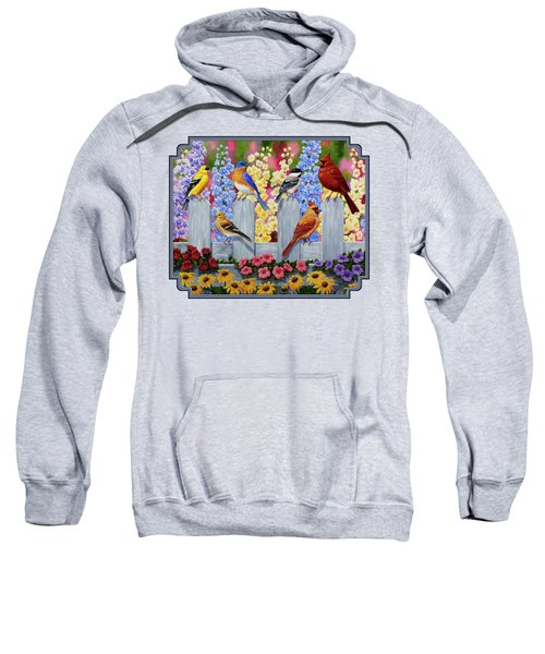 Bird Painting - Spring Garden Party Sweatshirt by Crista Forest