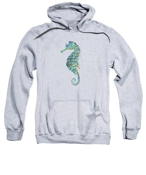 Blue Seahorse Sweatshirt by Amy Kirkpatrick