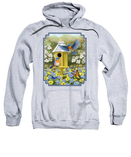 Bluebird Garden Home Sweatshirt by Crista Forest
