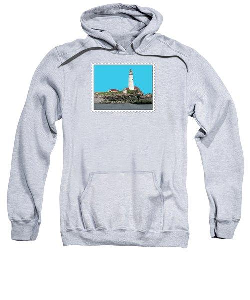 Boston Harbor Lighthouse Sweatshirt by Elaine Plesser