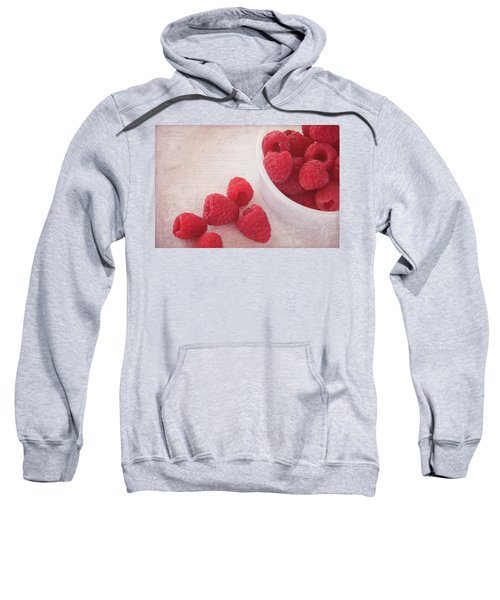 Bowl Of Red Raspberries Sweatshirt by Cindi Ressler