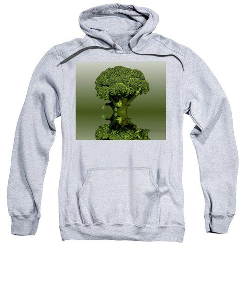 Broccoli Green Veg Sweatshirt by David French