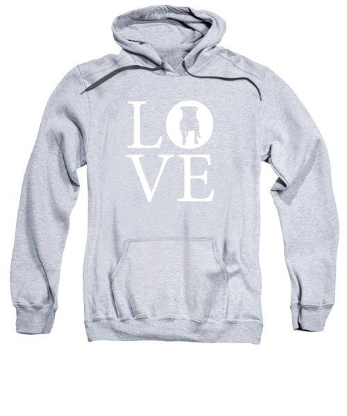 Bulldog Love Sweatshirt by Nancy Ingersoll