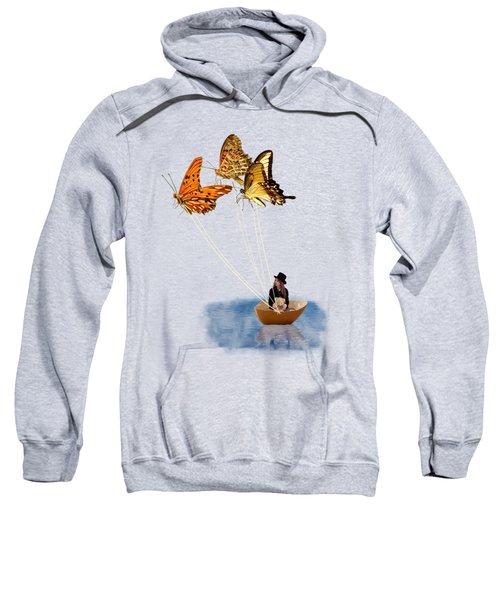 Butterfly Sailing Sweatshirt by Linda Lees