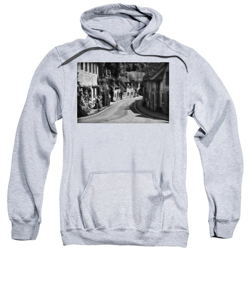Castle Combe England 2 Bw  Sweatshirt by Mike Nellums