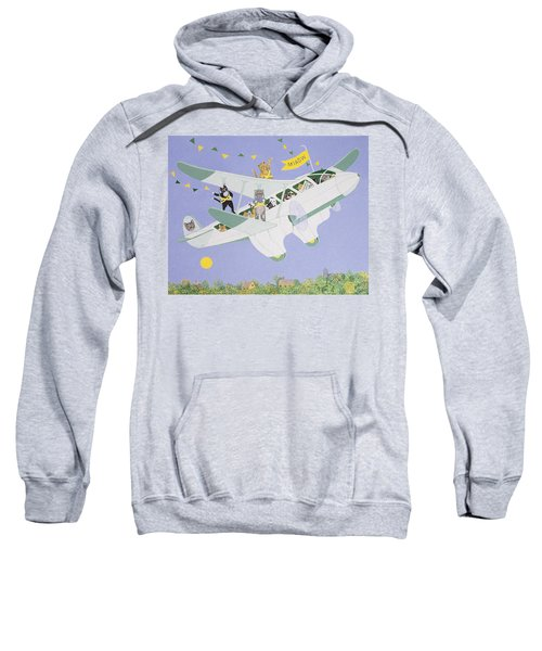 Cat Air Show Sweatshirt by Pat Scott