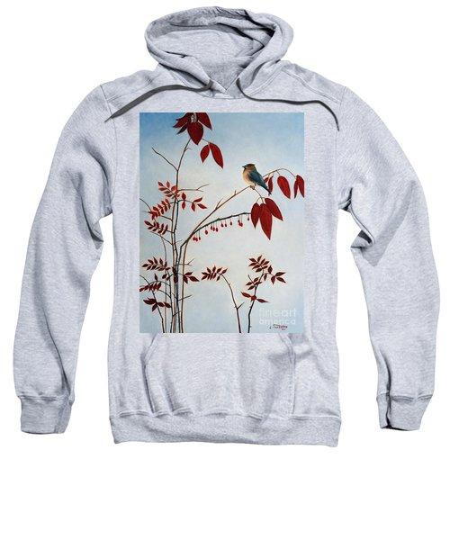 Cedar Waxwing Sweatshirt by Laura Tasheiko