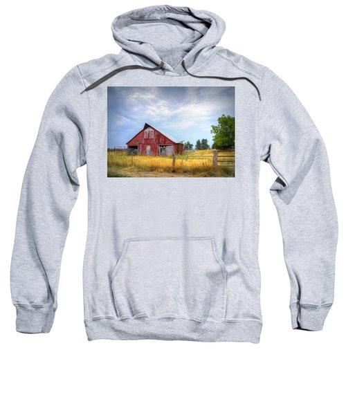 Christian School Road Barn Sweatshirt by Cricket Hackmann