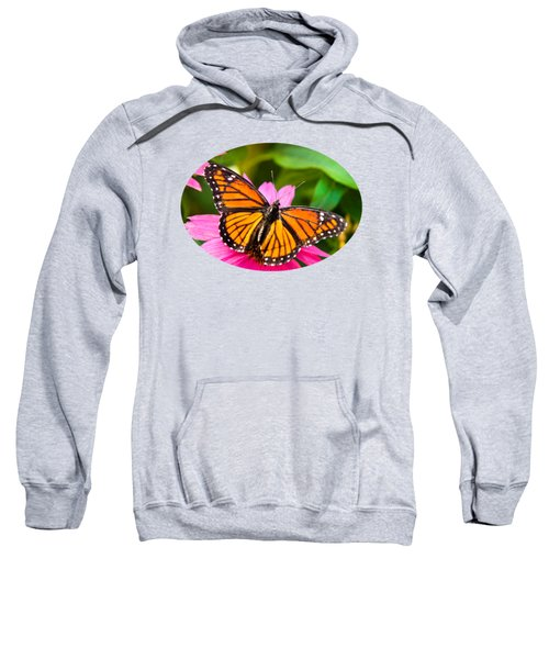 Colorful Butterflies - Orange Viceroy Butterfly Sweatshirt by Christina Rollo