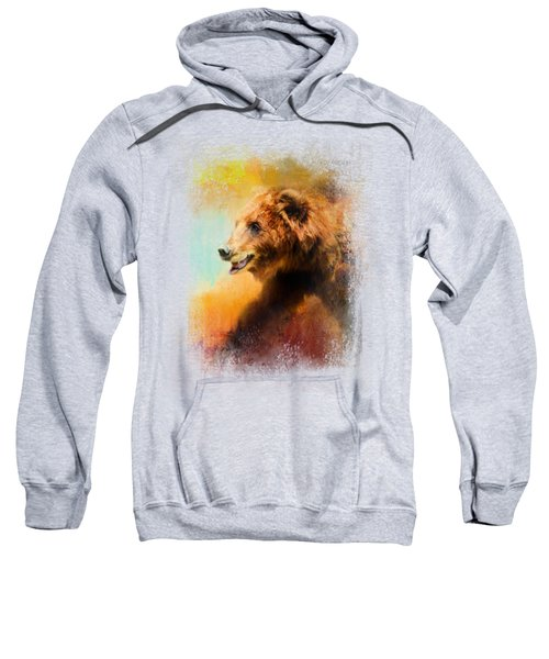 Colorful Expressions Grizzly Bear Sweatshirt by Jai Johnson