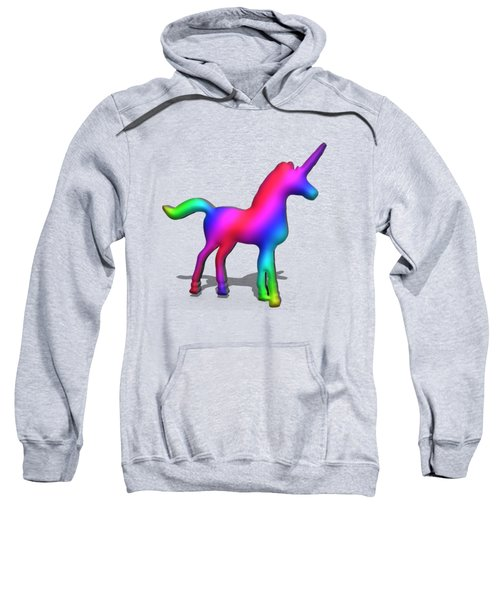Colourful Unicorn In 3d Sweatshirt by Ilan Rosen
