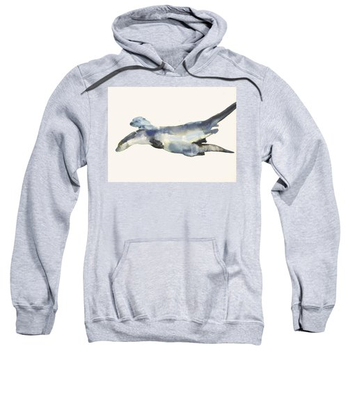 Courting Otters  Sweatshirt by Mark Adlington