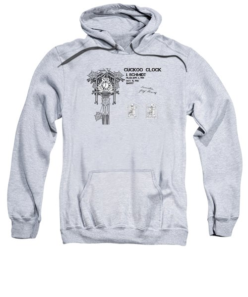 Cuckoo Clock Patent Art Sweatshirt by Justyna JBJart