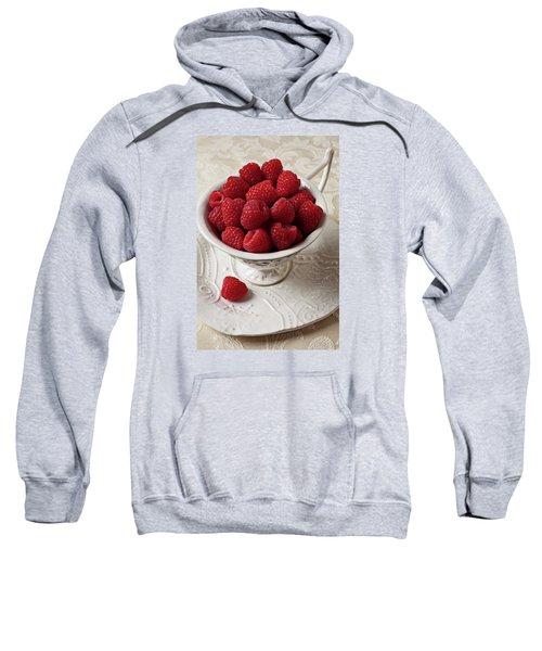 Cup Full Of Raspberries  Sweatshirt by Garry Gay