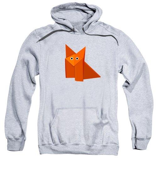 Cute Origami Fox Sweatshirt by Boriana Giormova