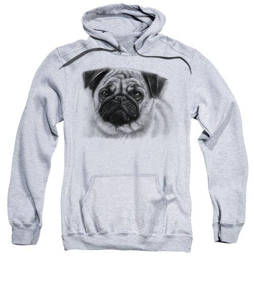 Cute Pug Sweatshirt by Olga Shvartsur