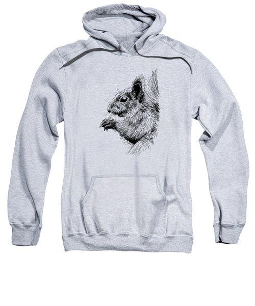 Cute Squirrel Sweatshirt by Masha Batkova