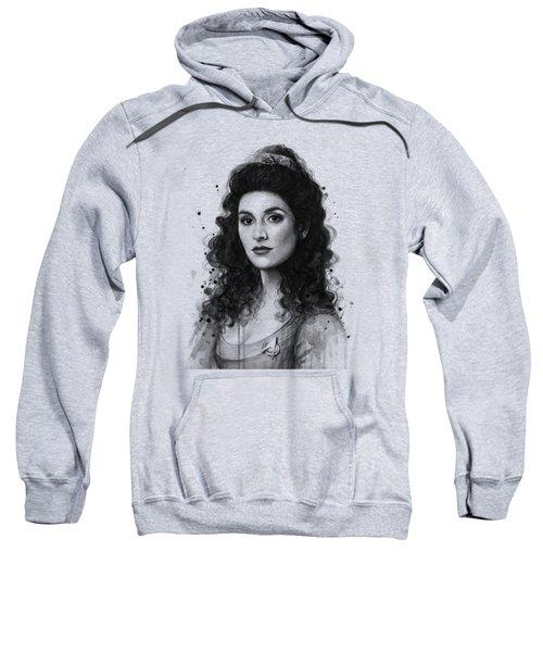 Deanna Troi - Star Trek Fan Art Sweatshirt by Olga Shvartsur