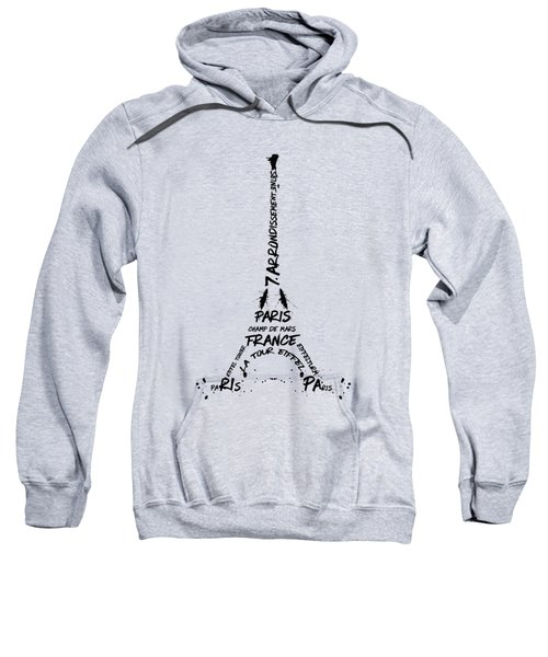 Digital-art Eiffel Tower Sweatshirt by Melanie Viola