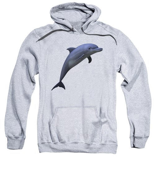 Dolphin In Ocean Blue Sweatshirt by Movie Poster Prints