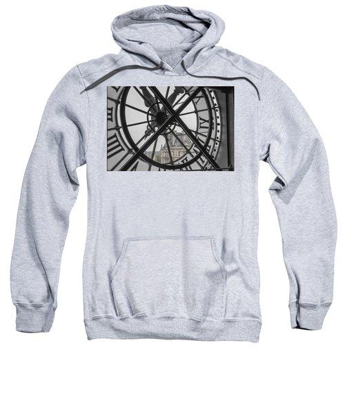 D'orsay Clock Paris Sweatshirt by Joan Carroll