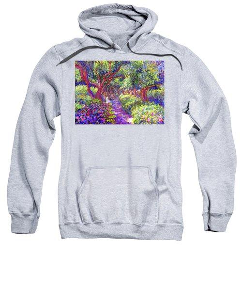 Dove And Healing Garden Sweatshirt by Jane Small
