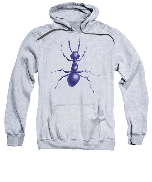 Drawn Purple Ant Sweatshirt by Boriana Giormova