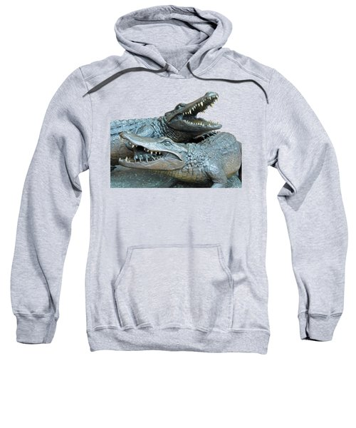 Dueling Gators Transparent For Customization Sweatshirt by D Hackett